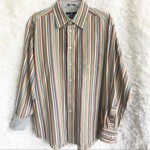 R&G Robert Graham Long Sleeve Button Down Shirt